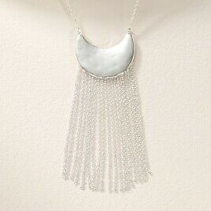 Stella & Dot Judy Fringe Necklace in Silver